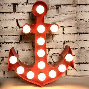 Light Box Shape - Anchor (red)