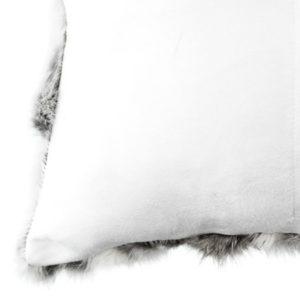 Rabbit Cushion - White & Grey - Square (500)