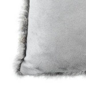 Rabbit Cushion - Natural Grey - Square (500)