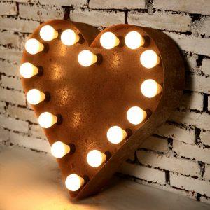 Light Box Shape - Heart (rust)