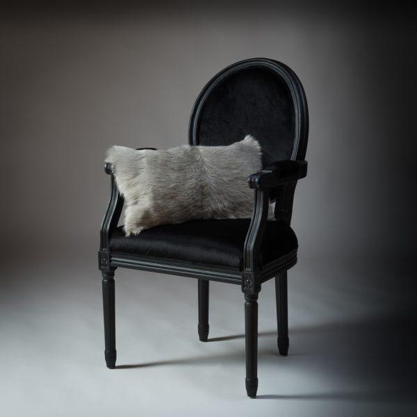 Goat Fur Cushion Soft Grey 300 x 500