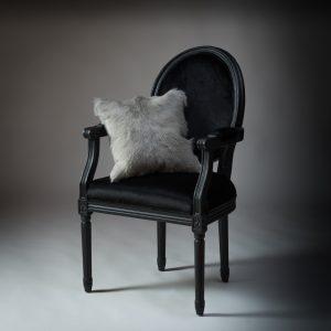 Goat Fur Cushion Soft Grey 400 x 400
