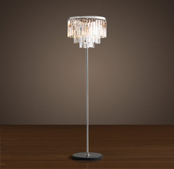 Crystal Drama Floor Lamp