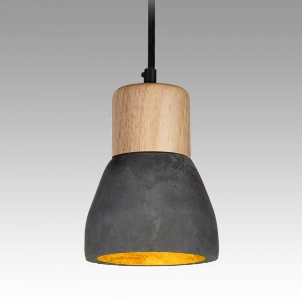 Concrete Duke Pendant (charcoal)