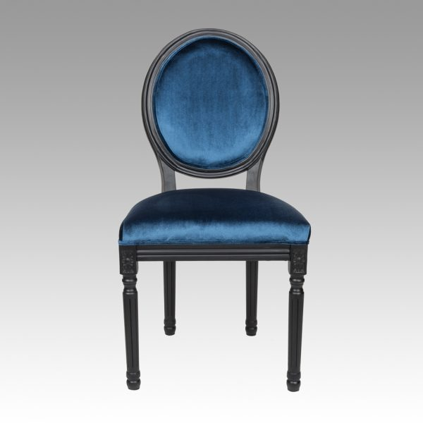 French Classic Dining Chair - Sapphire Blue