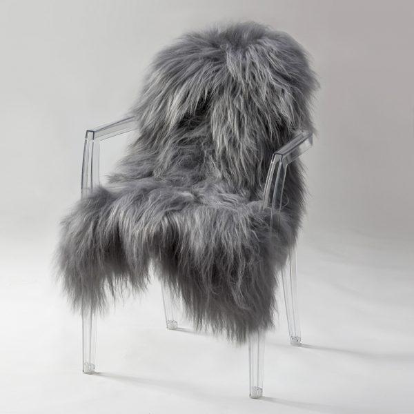 Icelandic Sheepskin #445 - Steel Grey