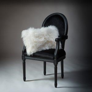 Tibetan Lambs Wool Cushion - Winter White - 300 x 500 (rectangle)