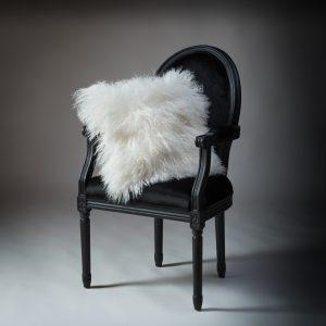 Tibetan Lambs Wool Cushion - Winter White - 450 x 450 (square)