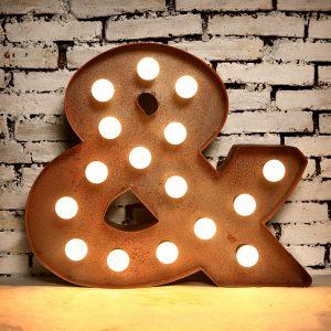 Light Box Shape - Ampersand (rust)