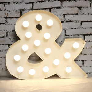 Light Box Shape - Ampersand (white)