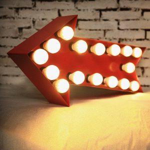 Light Box Shape - Arrow (red)
