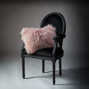 Tibetan Lambs Wool Cushion - Marshmallow Pink - 300 x 500 (rectangle)