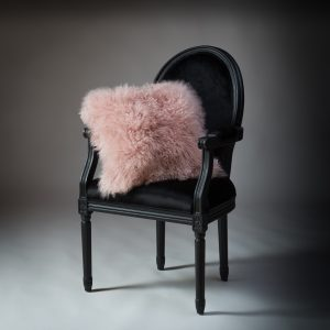 Tibetan Lambs Wool Cushion - Marshmallow Pink  - 450 x 450 (square)