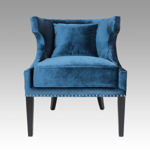 Occasional Curve Chair - Sapphire Blue
