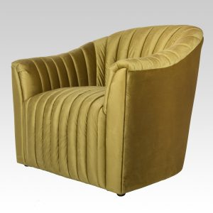 Ribbed Tub Chair - Electric Gold