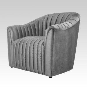 Ribbed Tub Chair - Liquid Silver