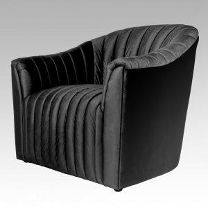 Ribbed Tub Chair - Midnight Black