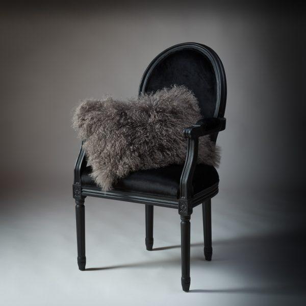 Tibetan Lambs Wool Cushion - Taupe Grey - 300 x 500 (rectangle)