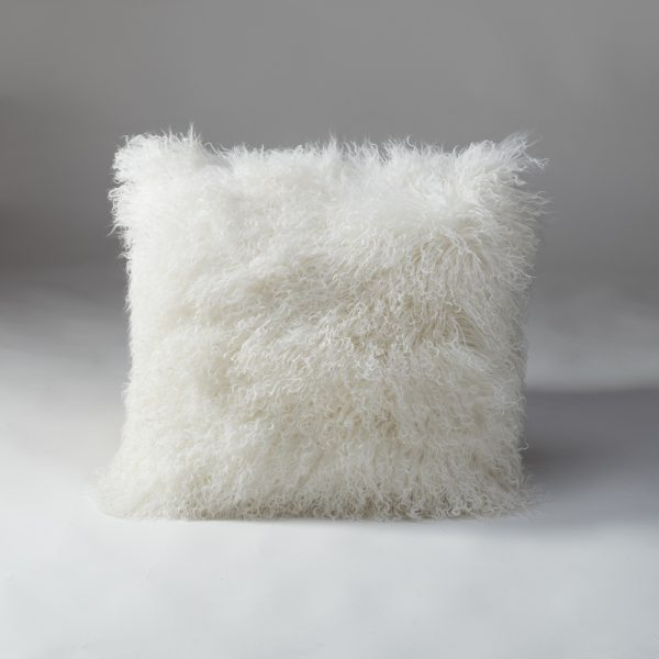 Tibetan Lambs Wool Cushion - Winter White  - X-Large - 600 x 600