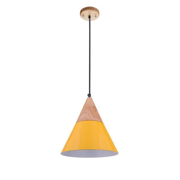Wood Series Pendant - Cone (yellow)